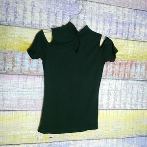 💲3/$15 Ambiance waffle knit green top size S